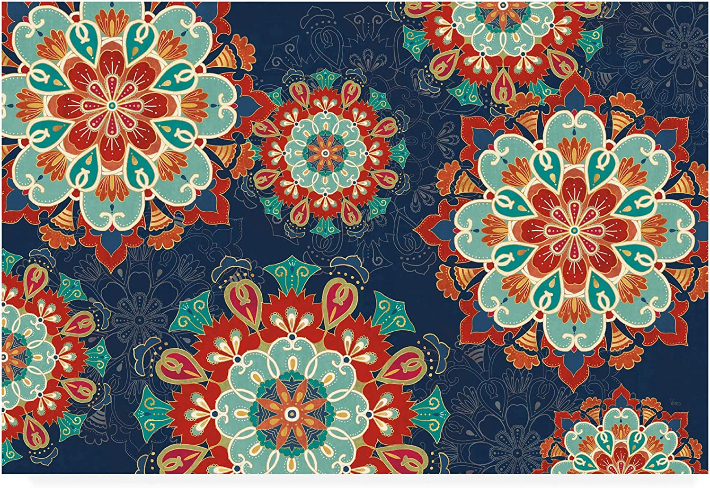 Trademark Fine Art Folk Floral 8 Dark by Veronique Charron, 12x19