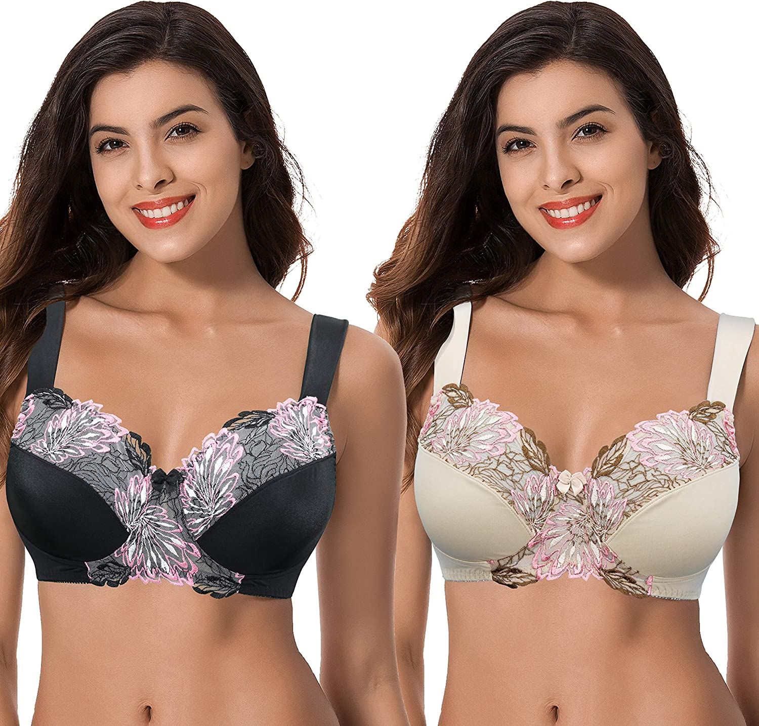 Curve Ranking TOP3 Muse Women's Plus Size supreme with Bra Wireless Unlined Minimizer