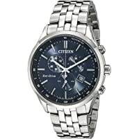 Citizen AT2141-52L Eco-Drive Chronograph Stainless Steel Men's Watch with Date (Blue)
