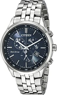 Men's Eco-Drive Chronograph Stainless Steel Watch with...