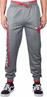 Ultra Game Men's Standard NBA Jogger Pants Active Basic Bounce Fleece Sweatpants, Charcoal Heather, Large