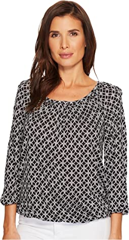 Rope Geo Scoop Neck Top