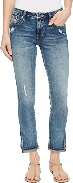 Miss Me - Ankle Skinny Jeans in Vintage Blue