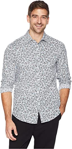 Total Stretch Printed Mini Floral Shirt
