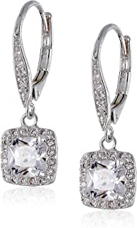 Flawless Cubic Zirconia Lever-Back Drop Earrings