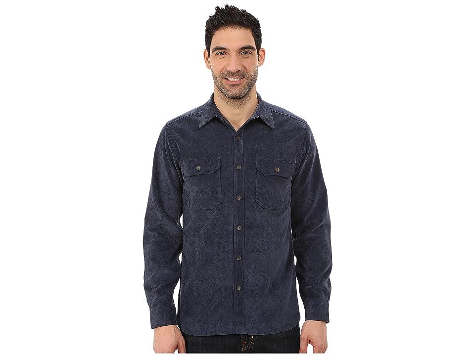 Royal Robbins Grid Cord Long Sleeve Shirt (Deep Blue) Men