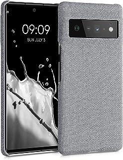 kwmobile telefoonhoesje compatibel met Google Pixel 6 Pro - Hoesje van stof in lichtgrijs