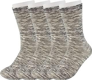 4P Pack Mens Merino Wool Socks Value- Lightweight Outdoor Socks Hiking Trail Crew Socks