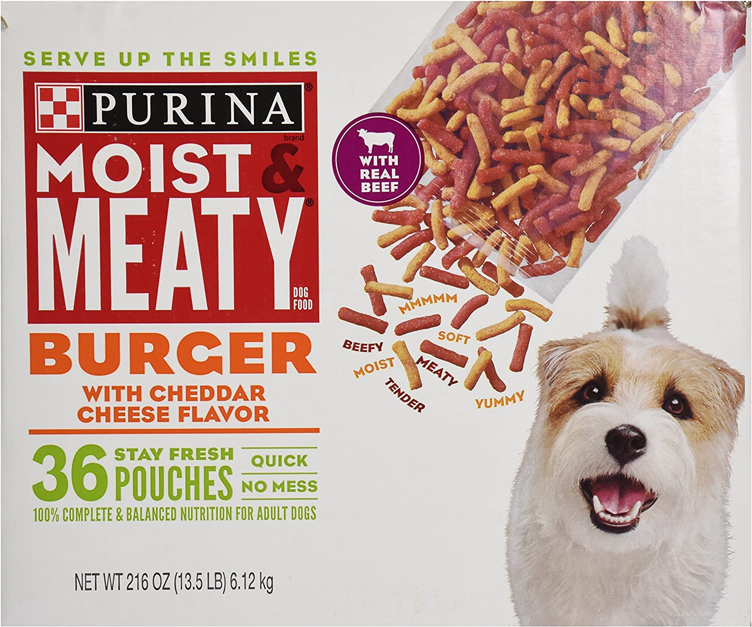 Purina Moist & Meaty Burger with Cheddar Cheese Flavor Dog Food [Misc.]
