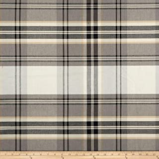 P Kaufmann Kendal Plaid Fabric, Peppercorn, Fabric By The Yard