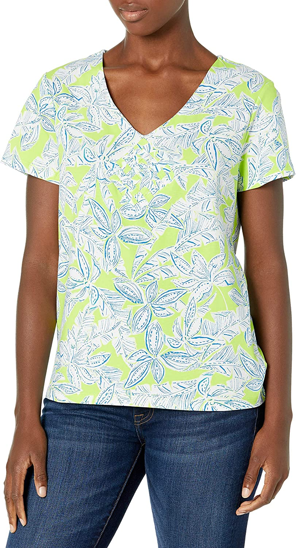 Caribbean Joe Womens Pot Holder Stretch Cotton Shirt