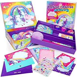 Original Stationery Unicorn Letter Writing Set, 45 Piece Stationery Set for Girls, Unicorn Gifts for Girls Age 10-12