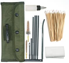 PORMUCAL Universal Cleaning Kit for All Guns Hunting Rifle Shot Gun Handguns .223 and 5.56 in Portable Pounch