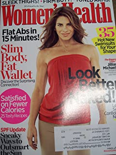 Women's Health May 2010 Look Better Naked! Flat Abs in 15 Minutes Satisfied on Fewer Calories Jillian Michaels