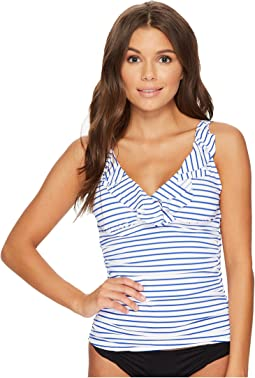 City Stripe Ruffle Tankini