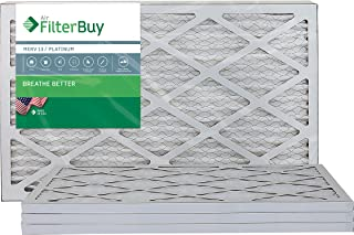 FilterBuy 16x25x1 MERV 13 Pleated AC Furnace Air Filter, (Pack of 4 Filters), 16x25x1 � Platinum
