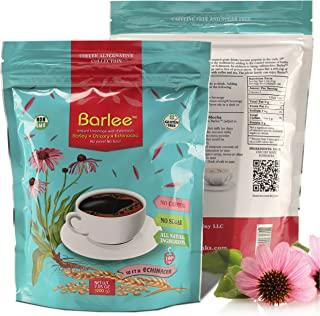 Barlee - Coffee Alternative Beverage Blend (Instant Coffee Substitute), with barley, chicory root and echinacea, Pack of 2...