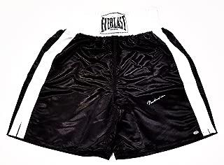 AUTOGRAPHED Muhammad Ali Boxing Super Star Signed Black & White Everlast Regulation Boxing Shorts/Trunks with COA