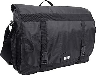 Eastsport Double Buckle Laptop Messenger, Black