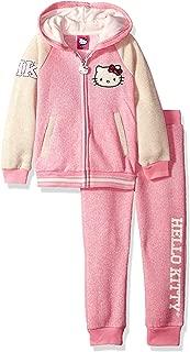 Hello Kitty 女童学院风运动套装卢勒克斯织物罗纹和印花