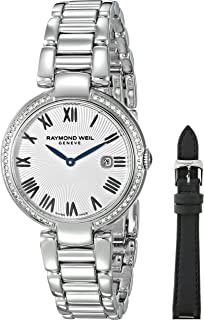 Women's 'Shine' Swiss Quartz Stainless Steel Casual Watch, Color:Silver-Toned (Model: 1600-STS-00659)