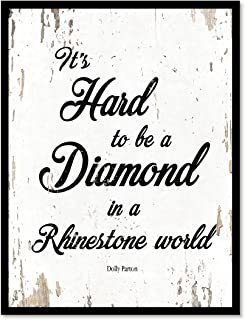 SpotColorArt It's Hard to Be A Diamond in A Rhinestone World Handcrafted Canvas Print, 7