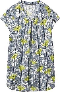 15f42a6b4ce896 White Stuff New 6-18 Rice Flower Print Jersey Blue White Green Tunic Top  Dress