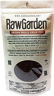 Raw Garden 2 Lbs Brown Whole Grain African Teff ( 32 oz Pack of 1 ),Gluten Free.