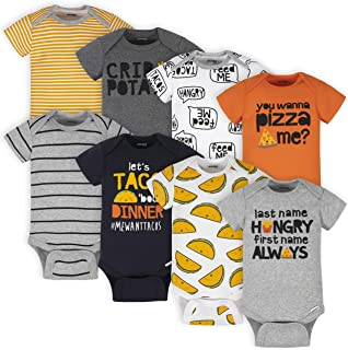 Onesies Brand baby-boys 8-pack Short Sleeve Mix & Match Bodysuits