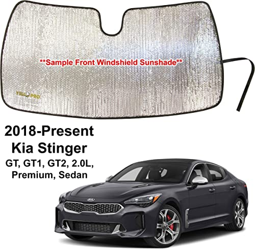 wholesale YelloPro new arrival Custom Fit Automotive high quality Reflective Front Windshield Sunshade Accessories UV Reflector Sun Protection for 2018 2019 2020 2021 Kia Stinger, GT, GT1, GT2, 2.0L, Premium, Sedan online