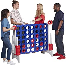ECR4Kids Jumbo 4-to-Score Giant Game Set, Backyard Games for Kids, Jumbo Connect-All-4 Game Set, Indoor or Outdoor Game, Adult and Family Fun Game, 43 Inches Tall, America – Red, White and Blue