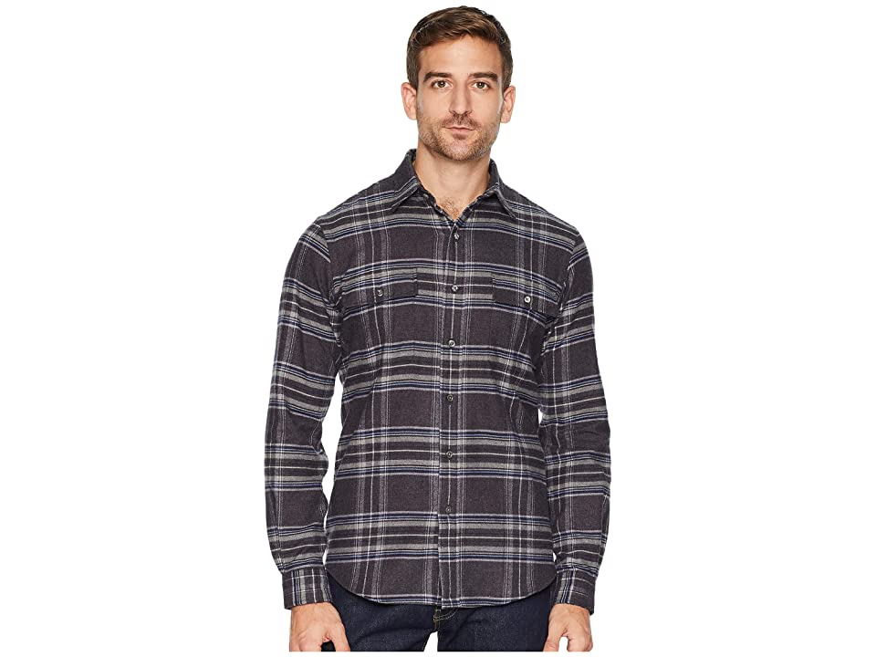 Polo Ralph Lauren Flannel Sports Shirt (Dark Grey/Blue Multi) Men
