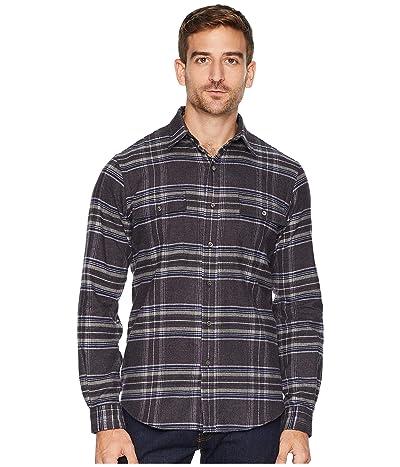 Polo Ralph Lauren Flannel Sports Shirt (Dark Grey/Blue Multi) Men