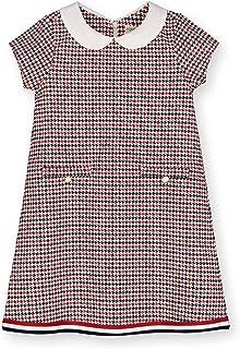 Hope & Henry Girls' Short Sleeve Ponte A-Line Dress