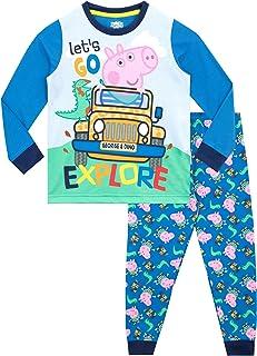 Peppa Pig Pijamas de Manga Larga para niños George Pig