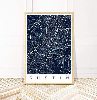austin map art