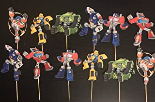 Transformers Cupcake Toppers/Transformers Inspired/Transformers Rescue Bots Inspired/Rescue Bots Cupcake Toppers/Transformers Rescue Bots Party Supplies/Prime/Bubble Bee/Transformers Birthday