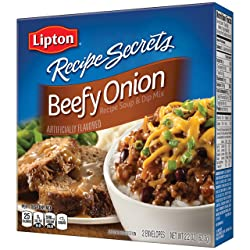 Lipton Recipe Secrets Soup and Dip Mix, Beefy Onion Flavor, 2.2 oz 2 Count