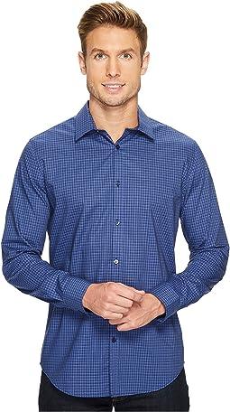 Calvin Klein - Slim Fit Infinite Cool End on End Shadow Check Button Down Shirt
