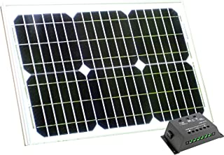 Caravana PK Green Ventilador Solar 12V DC Port/átil con Panel Solar 20W Monocristalino para Camping Invernadero Coche