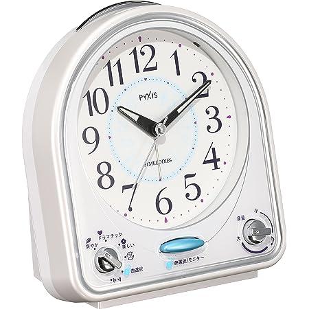 セイコー クロック 目覚まし時計 アナログ 31曲 メロディ アラーム PYXIS ピクシス 白 NR435W SEIKO