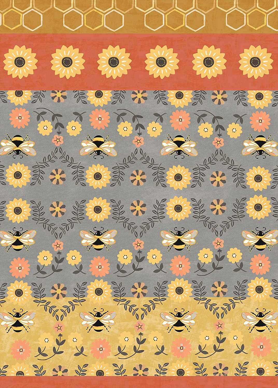 Studio M San Antonio Mall Floor Flair Honey and Hive Floral - 7 Max 70% OFF 5 Ft Bee Decora x