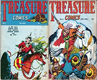 Treasure Comics. Issues 5 and 6. Features Marco Polo, Paul Buyan, Arabian Knight and Dr Styx. Golden Age Digital Comics Action and Adventure.
