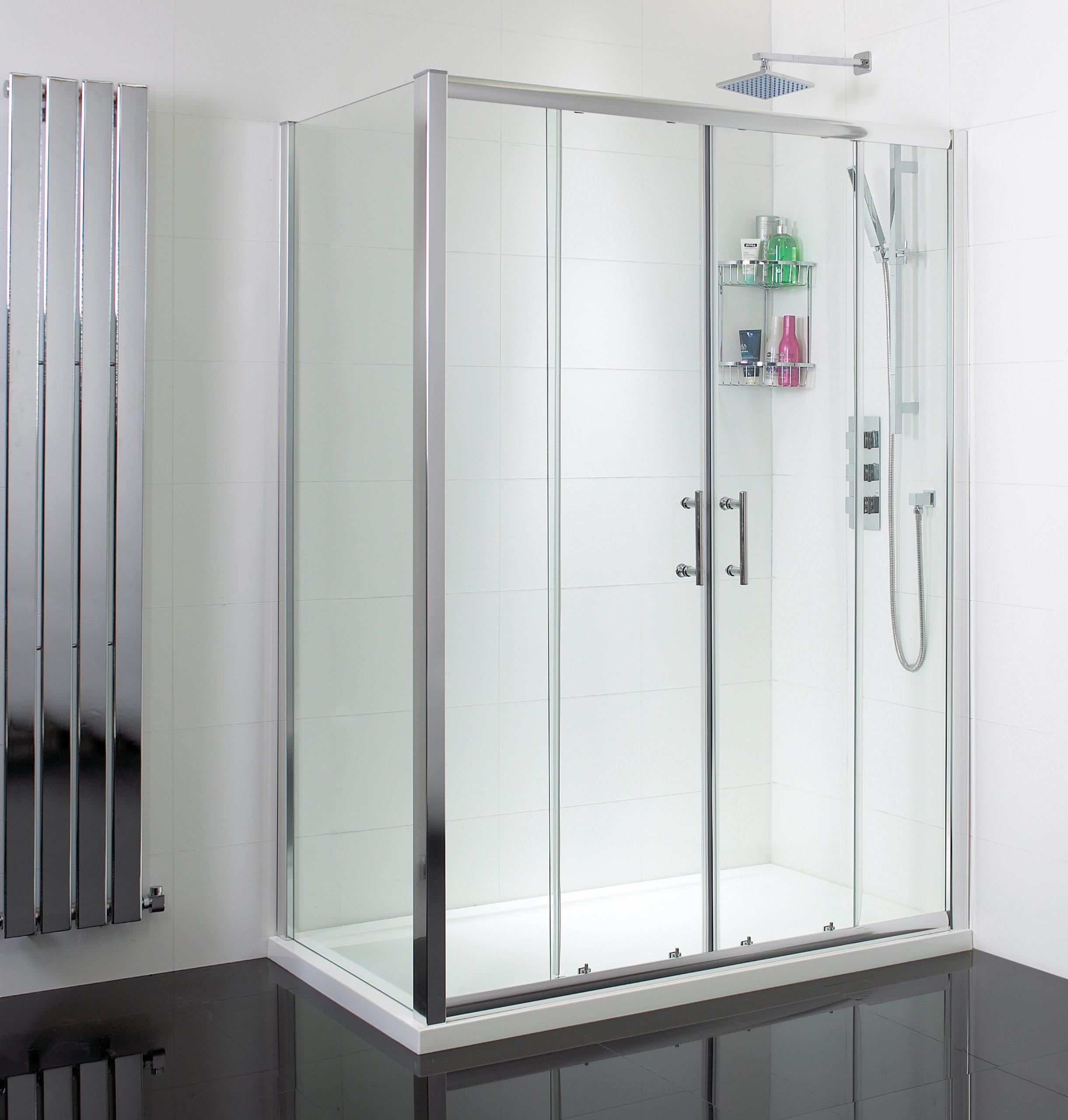 Ducha y baño Ideas - 1500 x 700 para puerta corredera doble caja de plato y: Amazon.es: Bricolaje y herramientas