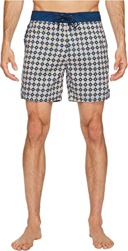 Star Tile Printed Chuck Boardshorts