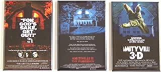 The Amityville Horror Movie Poster Fridge Magnet Set (2 x 3 inches each)