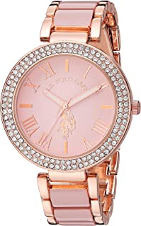 Women's Stainless Steel Quartz Watch with Alloy Strap,...