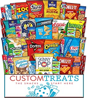 Ultimate Snack Assortment Care Package - Chips, Crackers, Cookies, Nuts, Bars - School, Work, Military or Home Christmas (...