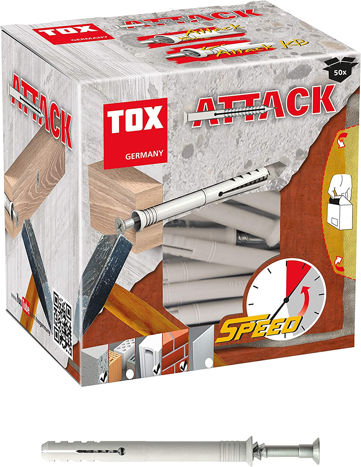 TOX Nail Many Free shipping anywhere in the nation popular brands Wall Plug Attack 8x120 Pieces 50 017102271 mm
