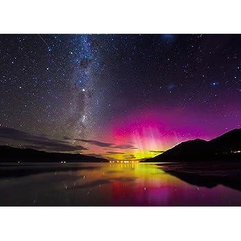500ピース ジグソーパズル めざせ! パズルの達人 世界の絶景 南半球の赤いオーロラ-ニュージーランド(38x53cm)